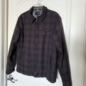 Men's Hurley Plaid Coat Size M